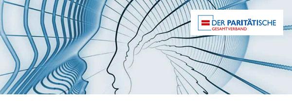 Abstrahierte technische Zeichnung von einem Kopf im Profil.