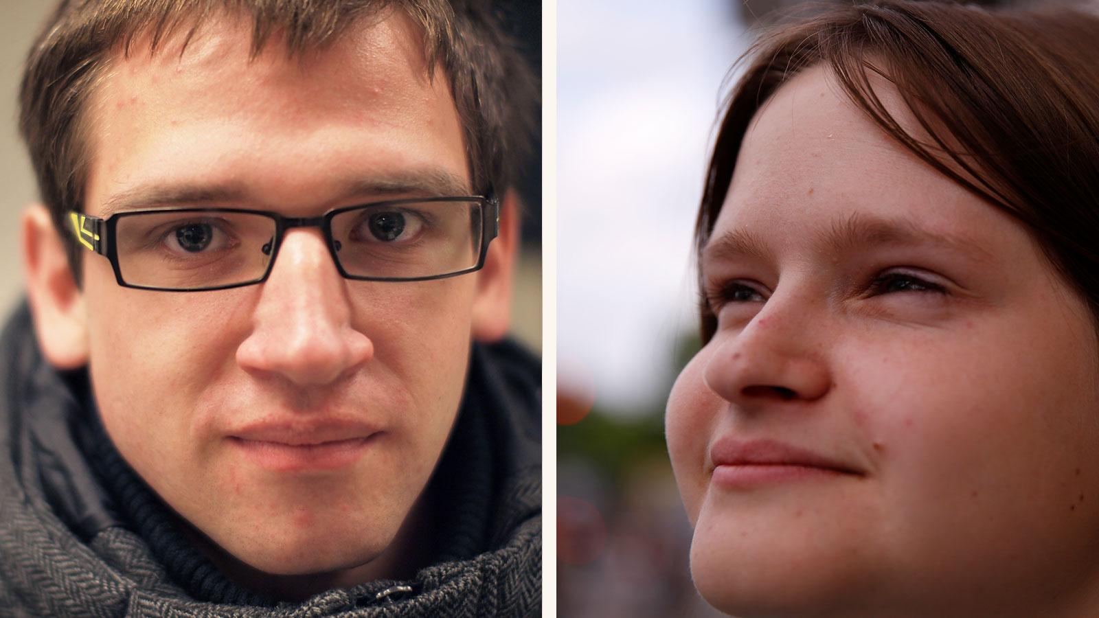 Porträts von Marvin und Johanna