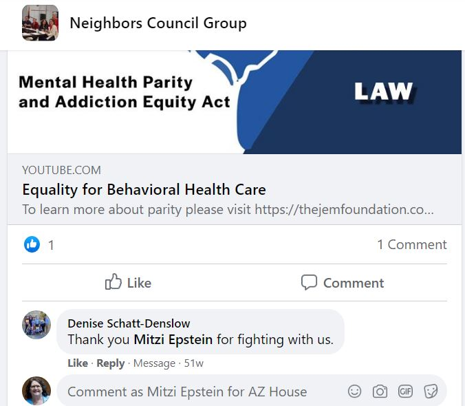 neighbors_council_-Denise_thanks_Mitzi_for_Parity_Law_help_2019-0ct28.JPG