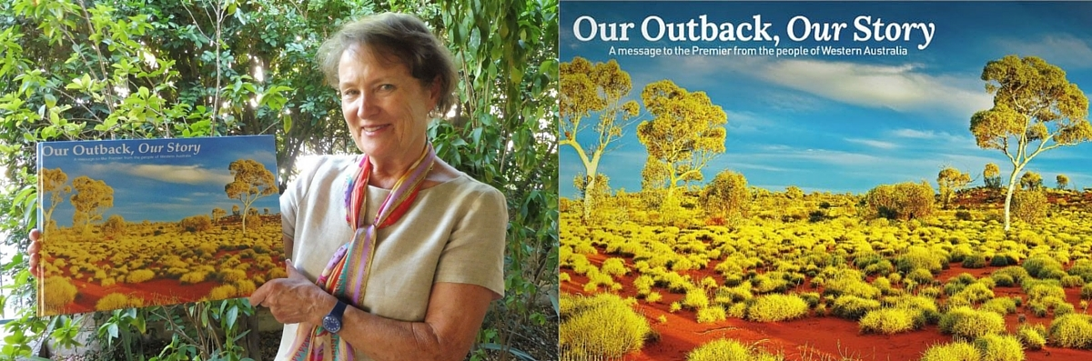 Former pastoralist meets with the Premier and presents the Outback book!