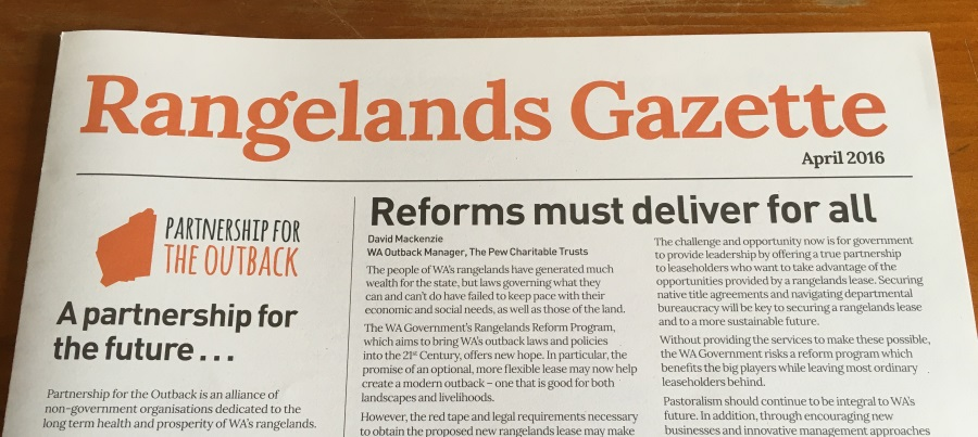 Rangelands Gazette highlights the benefits of reform