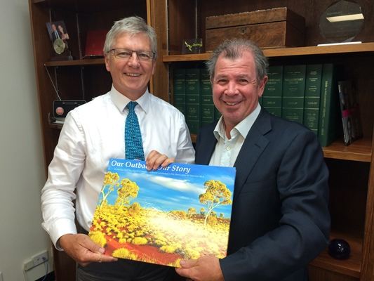 Former pastoralist meets local MP Bill Marmion to discuss historic changes to WA Outback