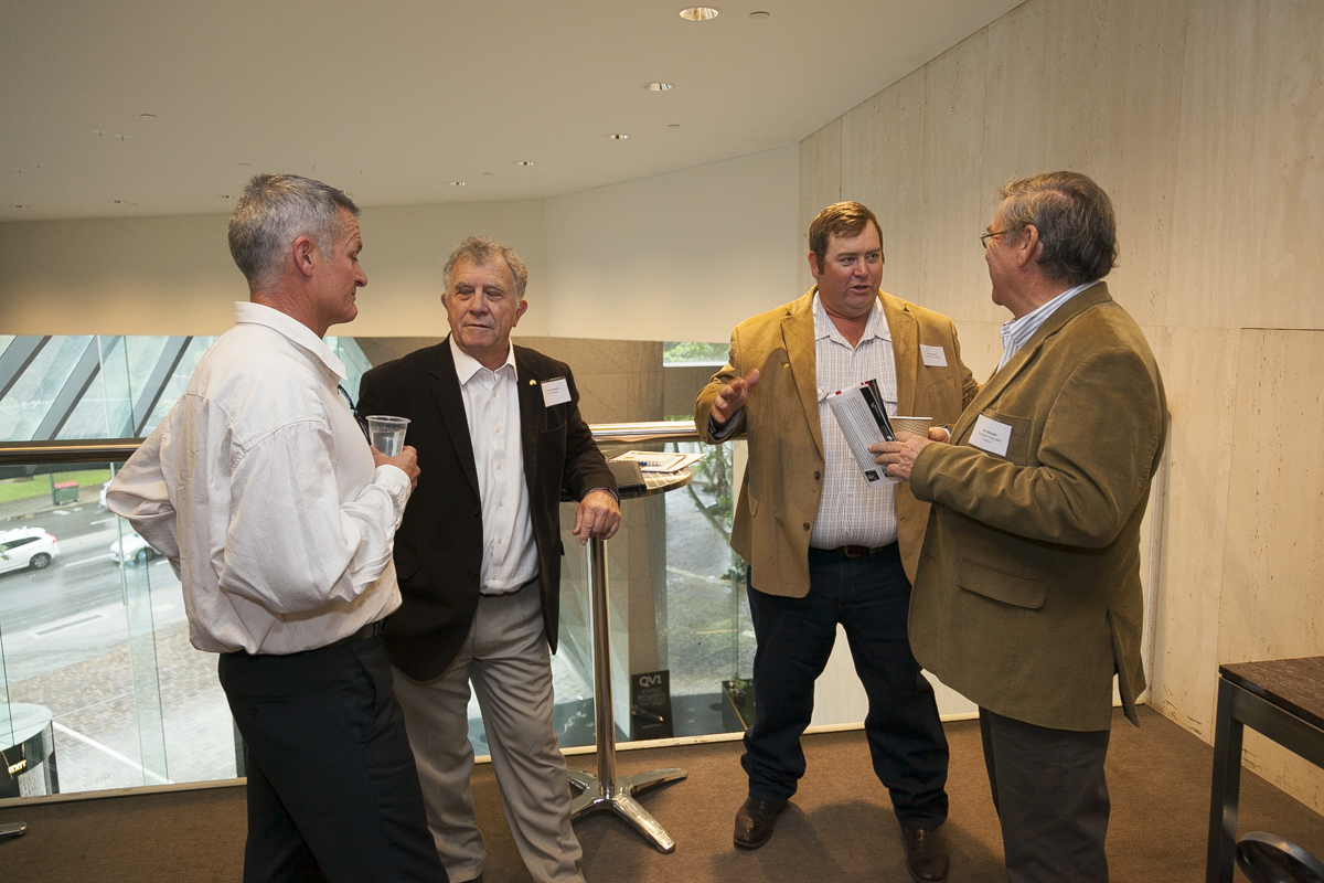 Kent Broad (Carbon Neutral), Graham Forsyth (Bryah Station), Ben Forsyth (Three Rivers Station) and Bill Mitchell (Australian Integrated Carbon)