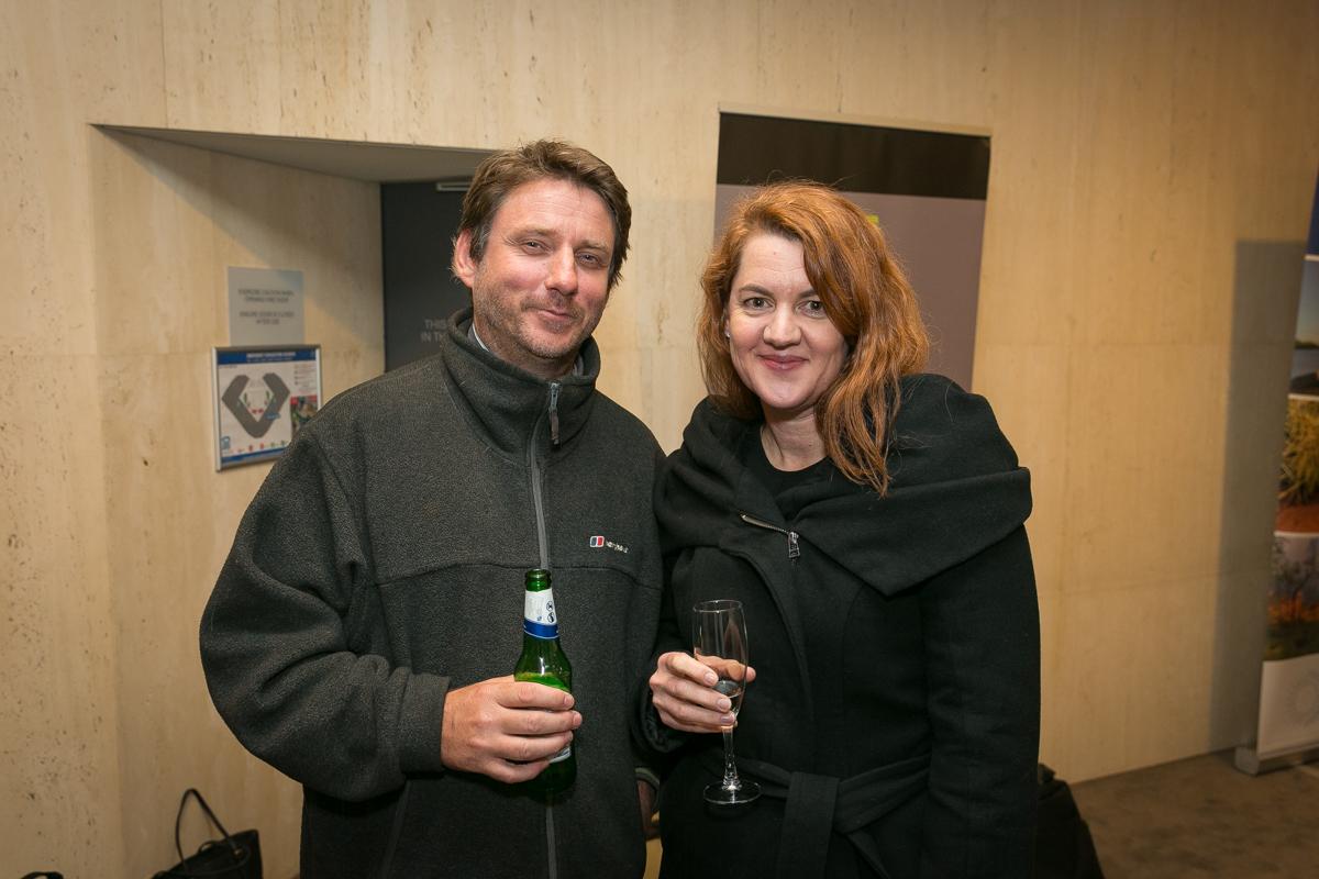 Martin Pritchard (Environs Kimberley) and Melinda Macleod (BHP Billiton)