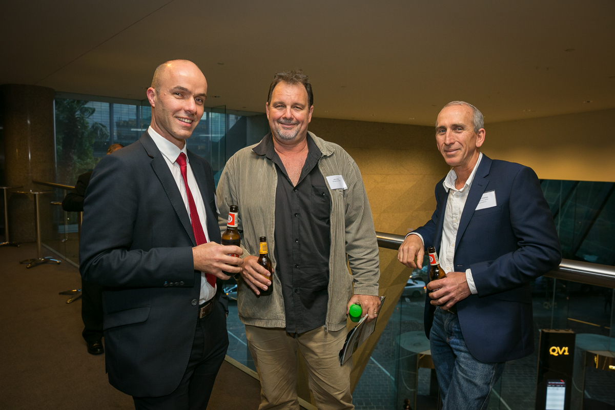 Scott Girdler (Clayton Utz), John Silver (Rangelands NRM) and Stephen Sharpe (Indigenous Land Corporation)