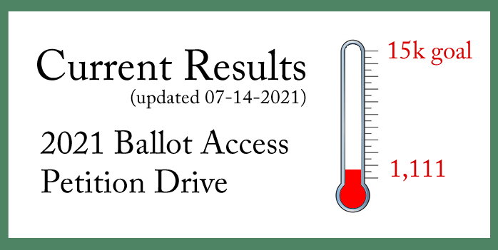 Missouri Green Party 2021 Ballot Access Petition Drive Results