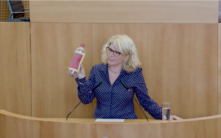 Françoise De Smedt, cheffe de groupe PTB-PVDA au Parlement bruxellois.