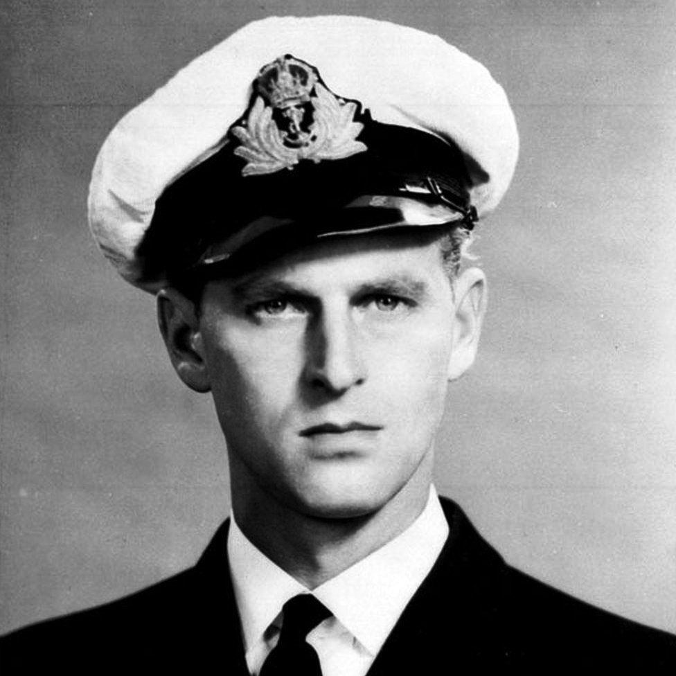 Prince Philip as a naval cadet
