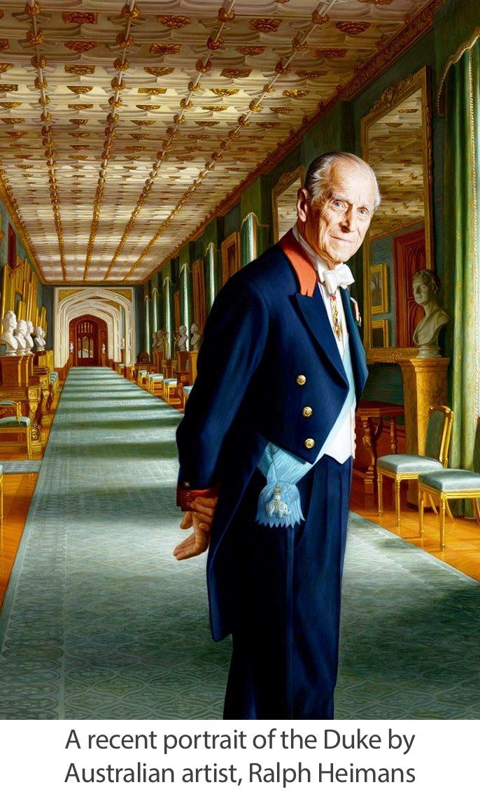 A recent portrait of the Duke by Australian artist, Ralph Heimans