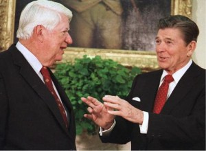 President Ronald Reagan and Speaker Tip O'Neill
