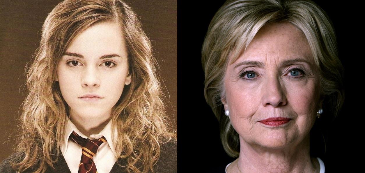 Hillary is Hermione, plus a few years