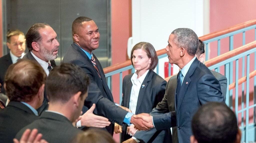 President Obama visits Newark