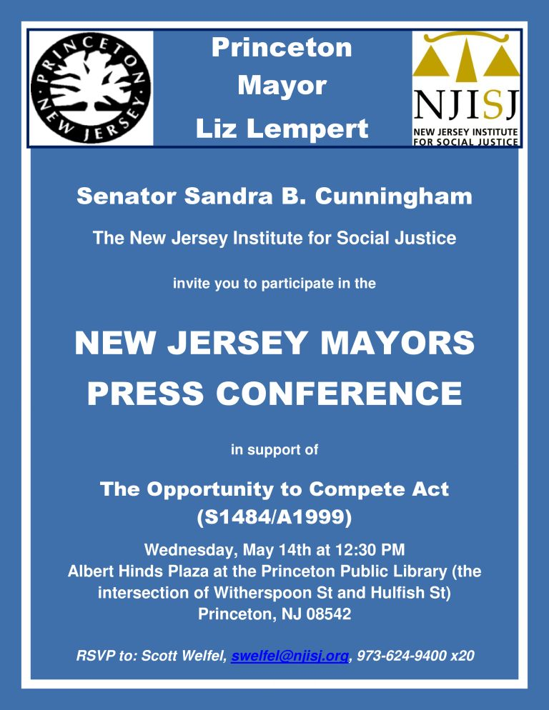 Princeton Mayors Press Conference Flyer