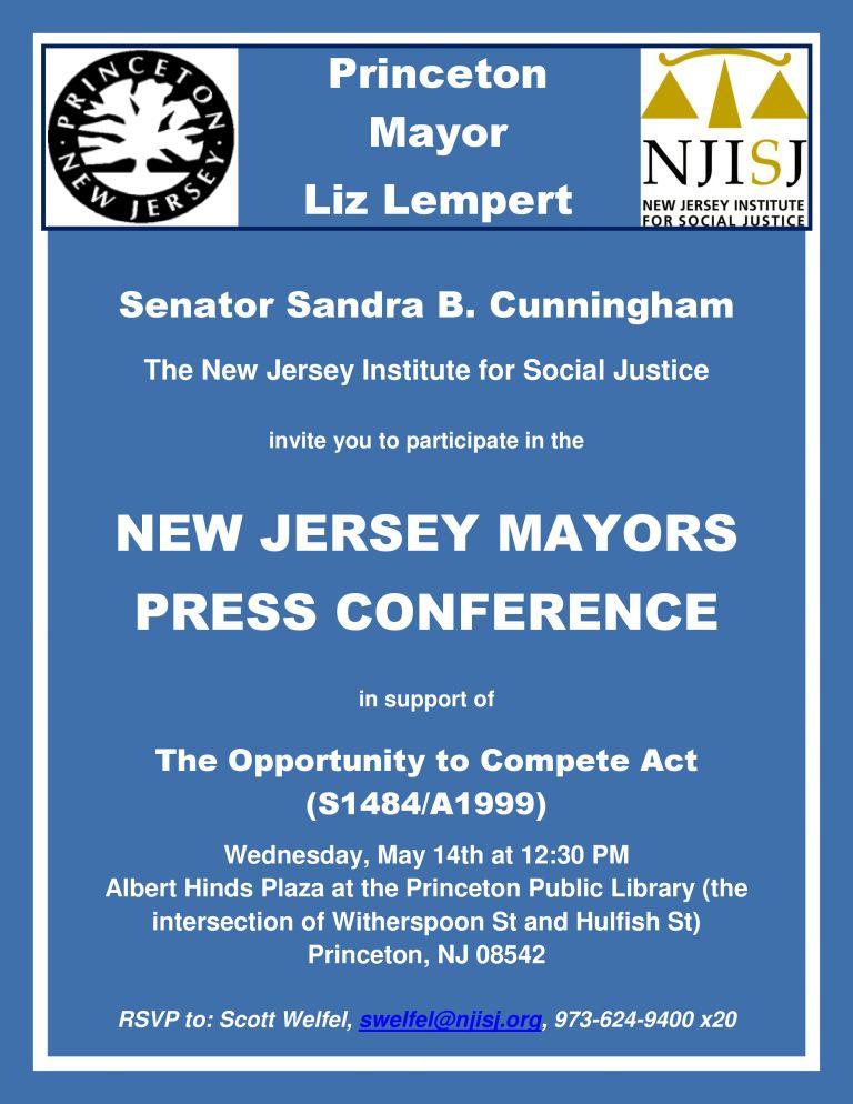 Princeton Mayors Press Conference Flyer