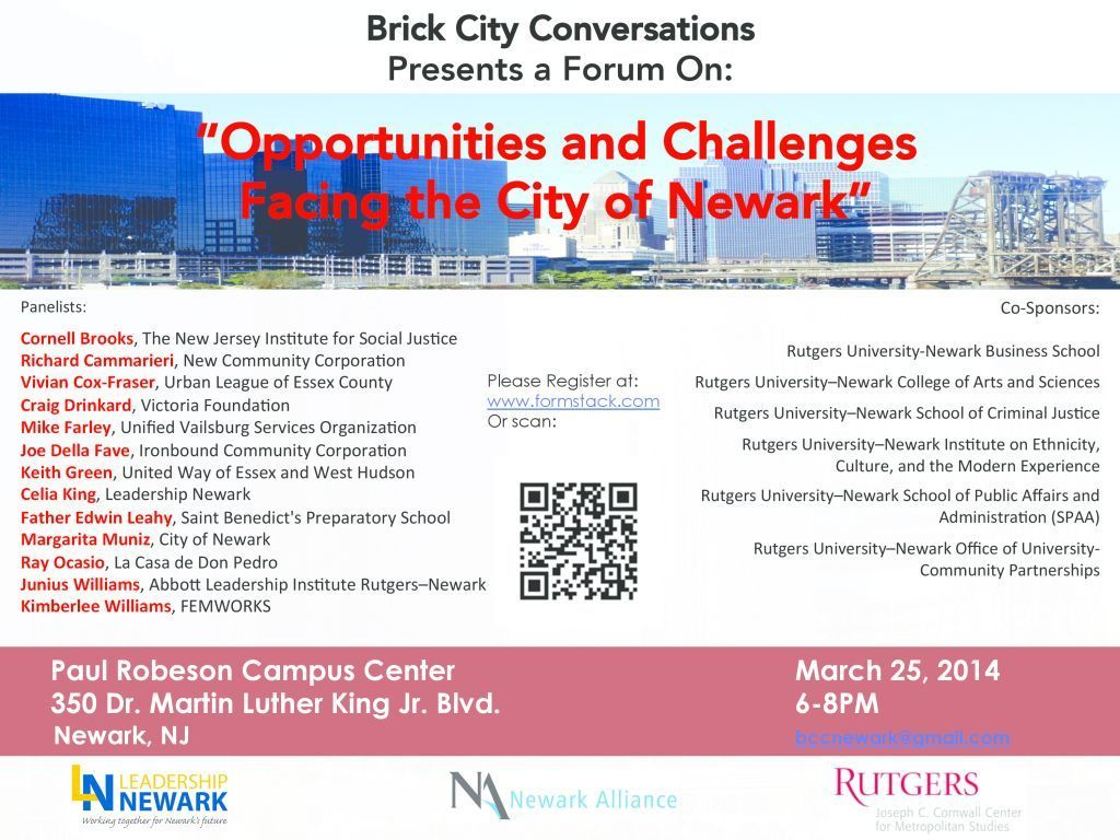 Brick City Conversations - March 25th