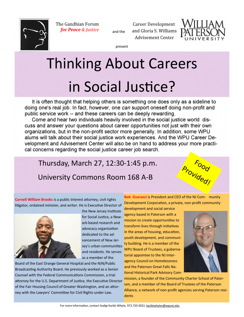 Thinking About Careers in Social Justice?