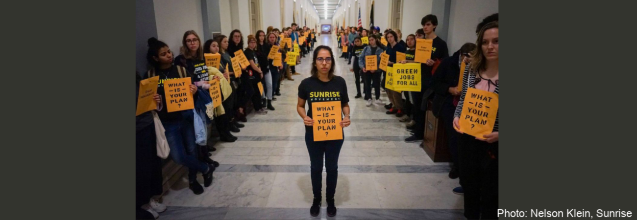 Join Mothers Out Front: Support the Sunrise Movement to call for a #GreenNewDeal