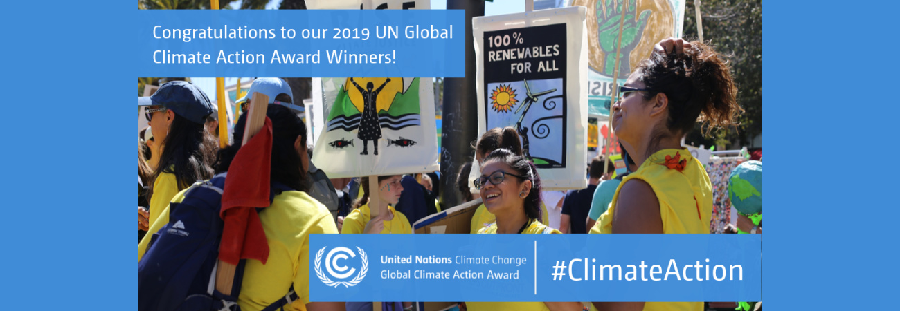 MOTHERS OUT FRONT RECEIVES  2019 UN GLOBAL CLIMATE ACTION AWARD