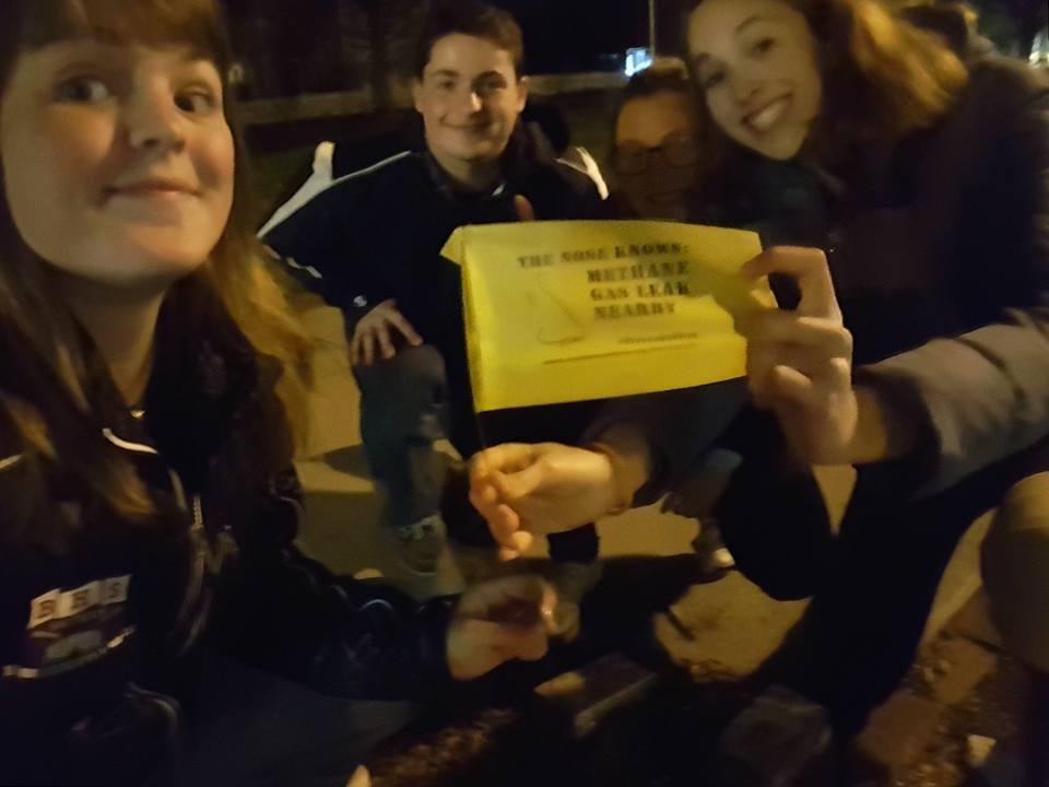 Group gas leak selfie