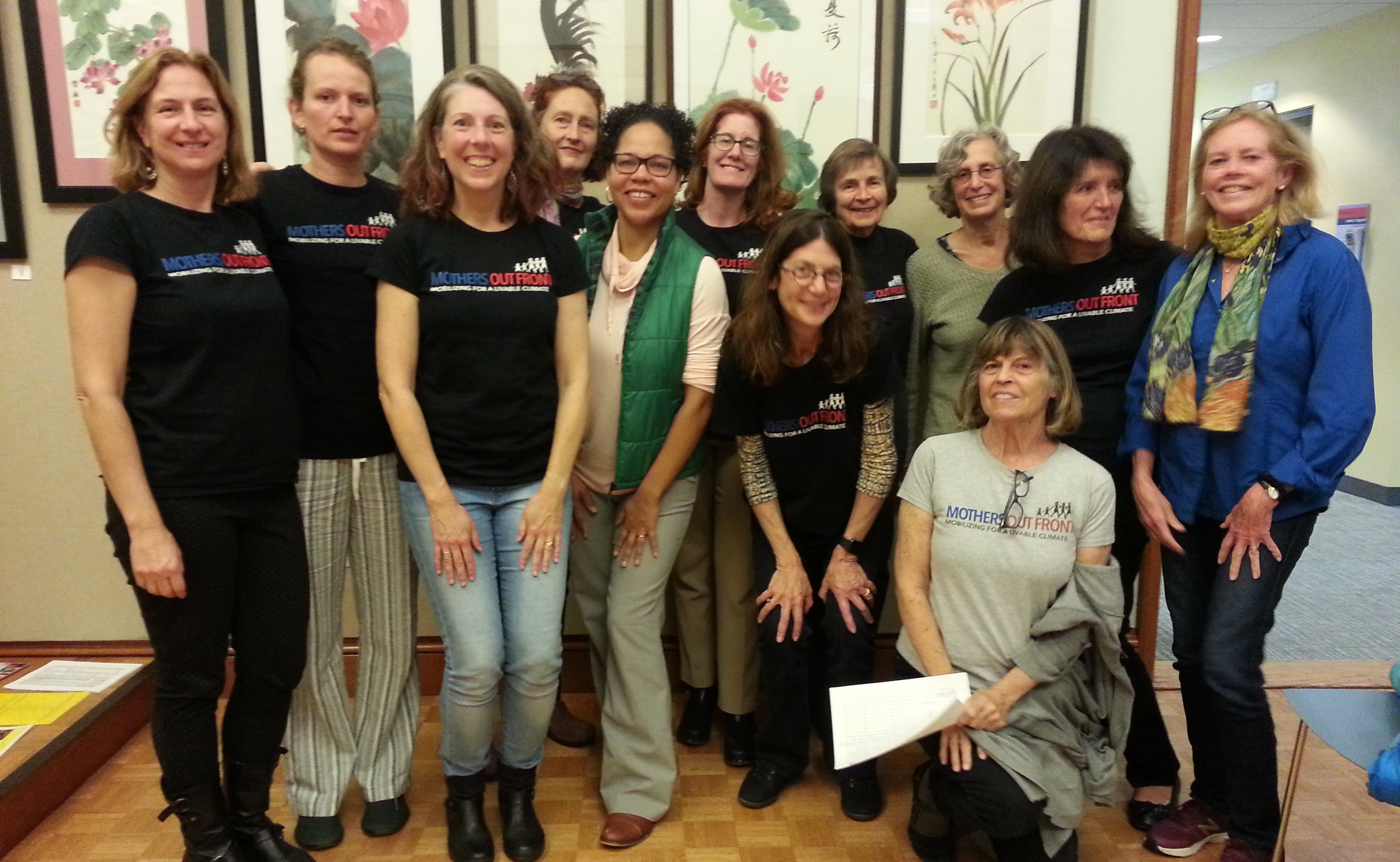 Brookline Mothers Out Front team