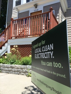 Clean energy lawn sign