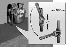 Image result for turn off your gas line