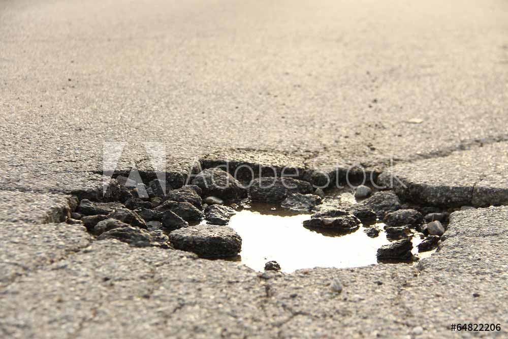 of major locally and state maintained roads are in poor condition