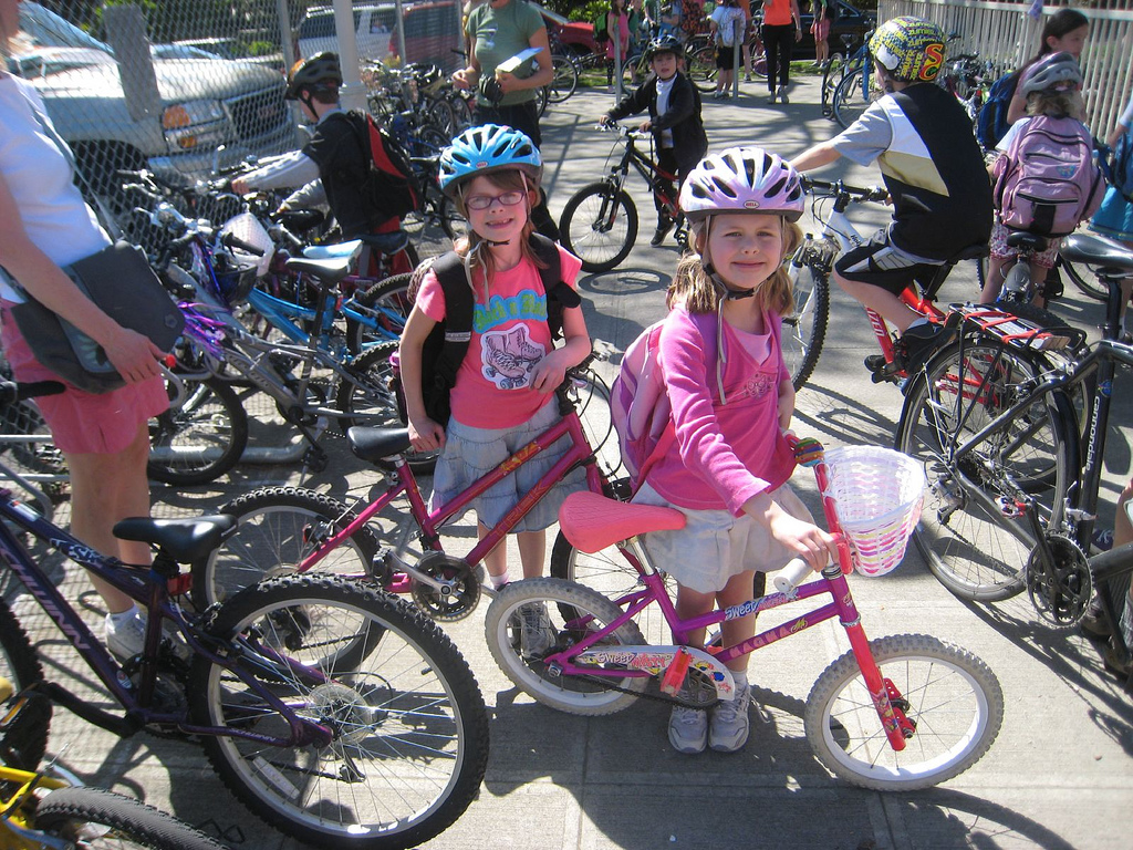 Kids on bikes by carfreedays on Flickr
