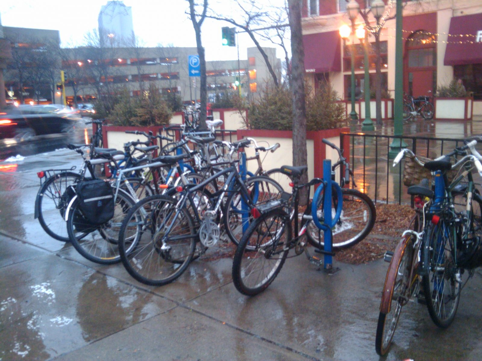 The bike racks outside The Republic last night