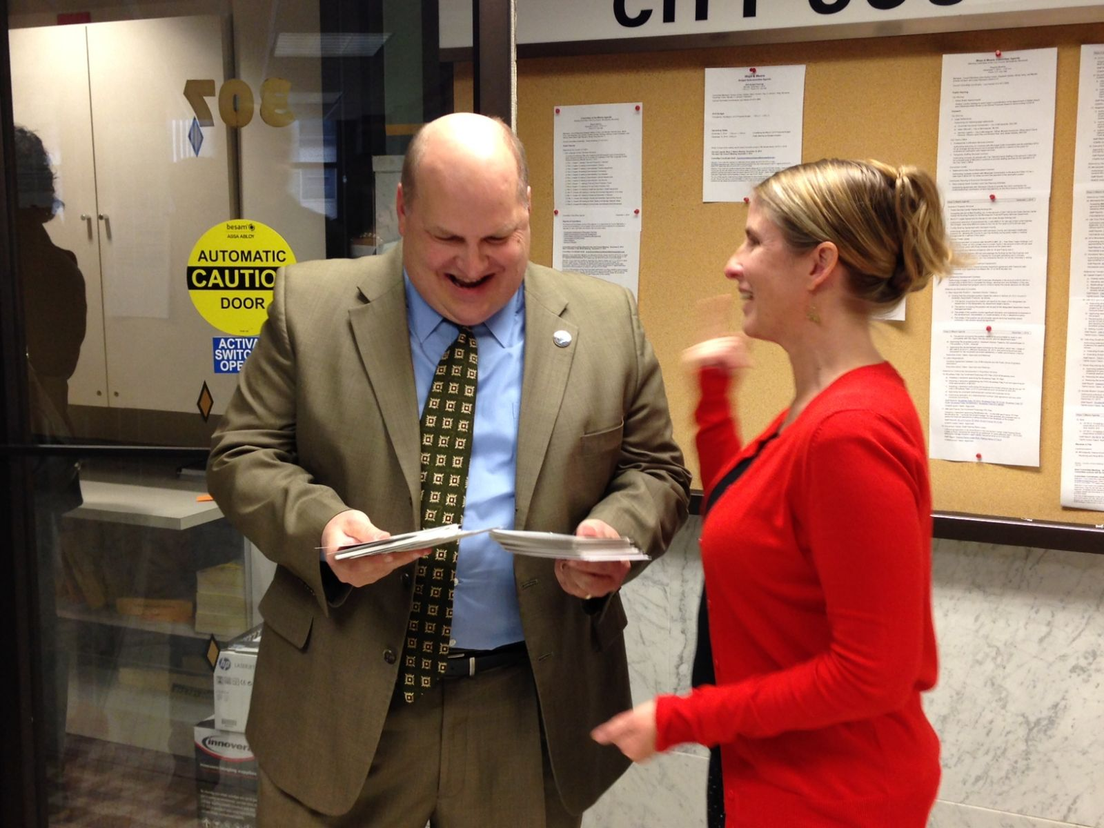12-2-14_Postcard_Delivery_Event-_CM_John_Quincy_with_Amy_Brugh.JPG