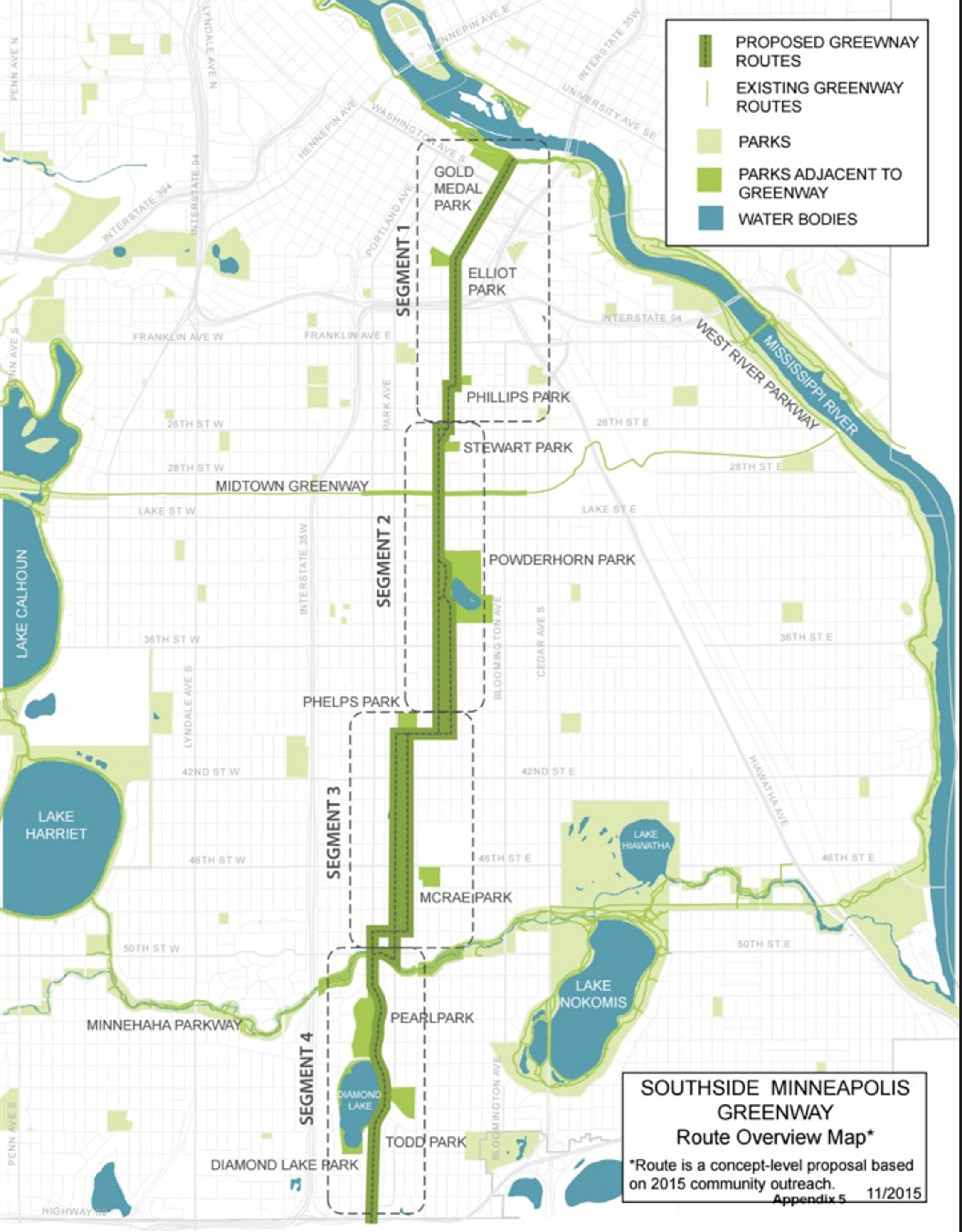 Southside Greenway Map