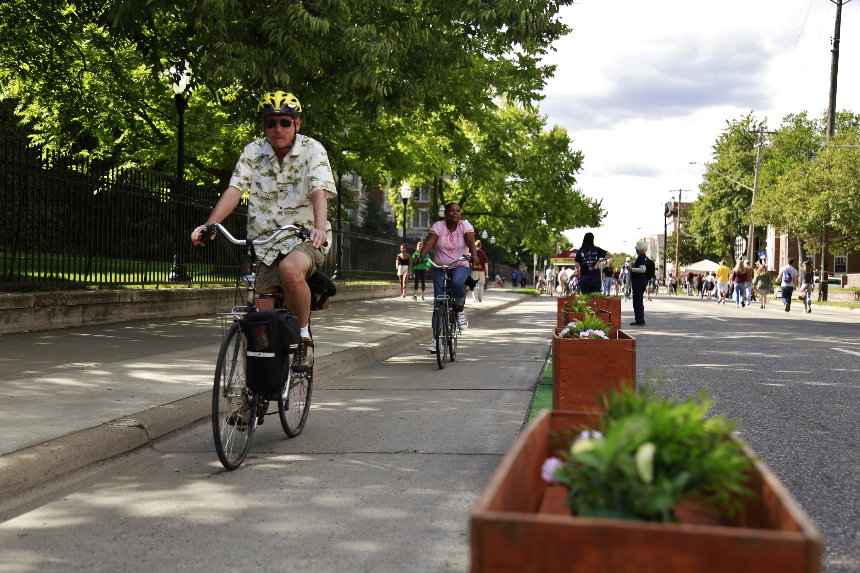 Pop-Up Bikeway at Open Streets 2015
