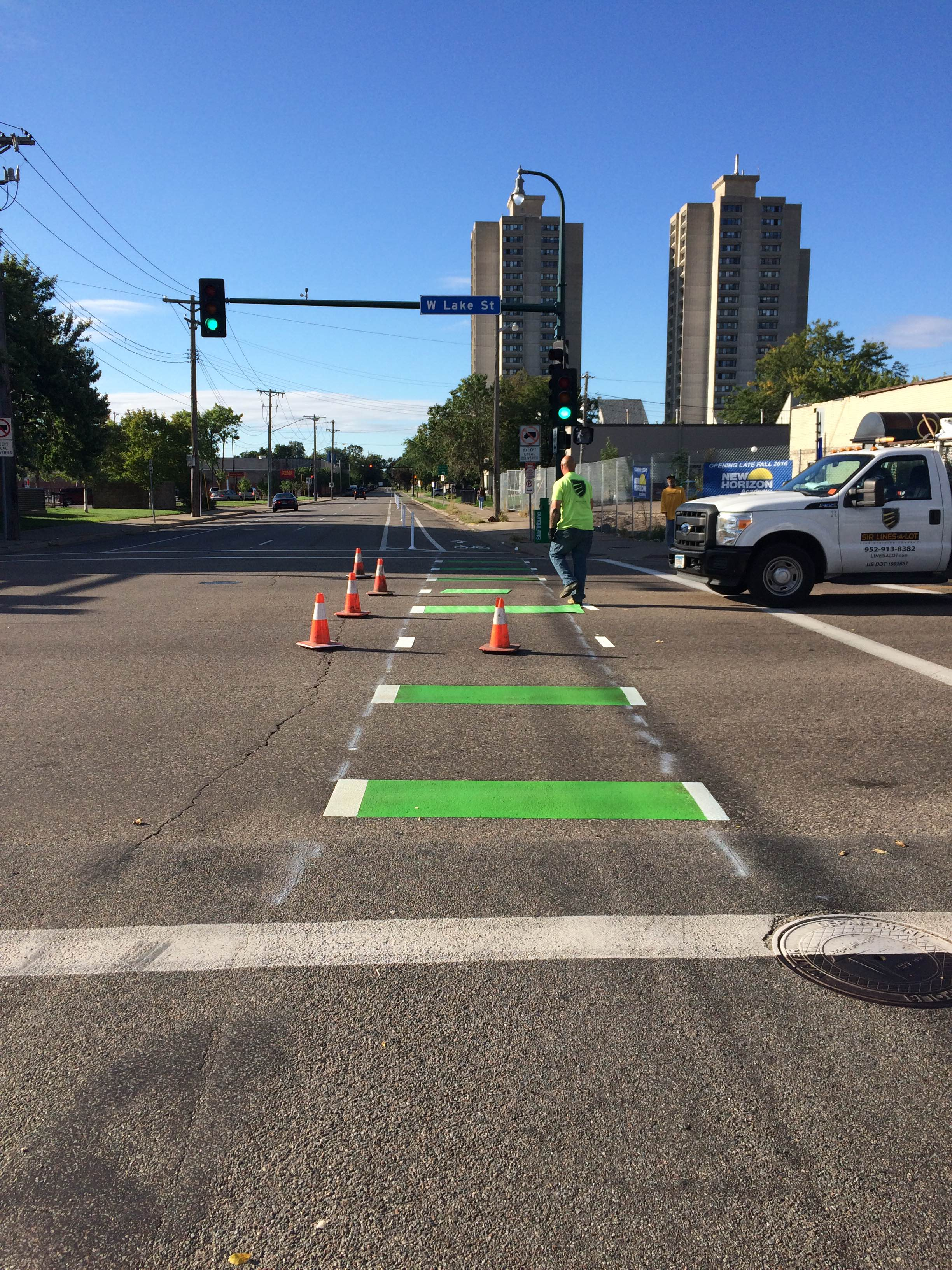 Blaisdell_Protected_Bike_Lane_Green_Intersection.JPG