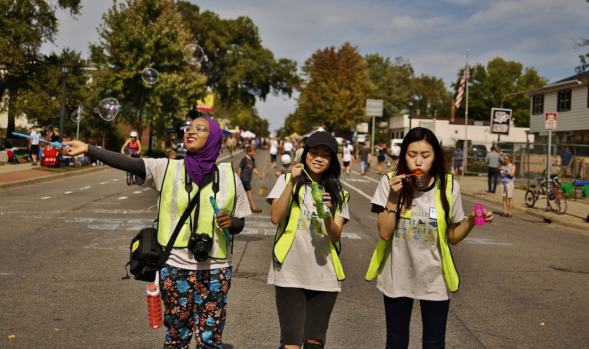Bubbly Volunteers at Open Streets