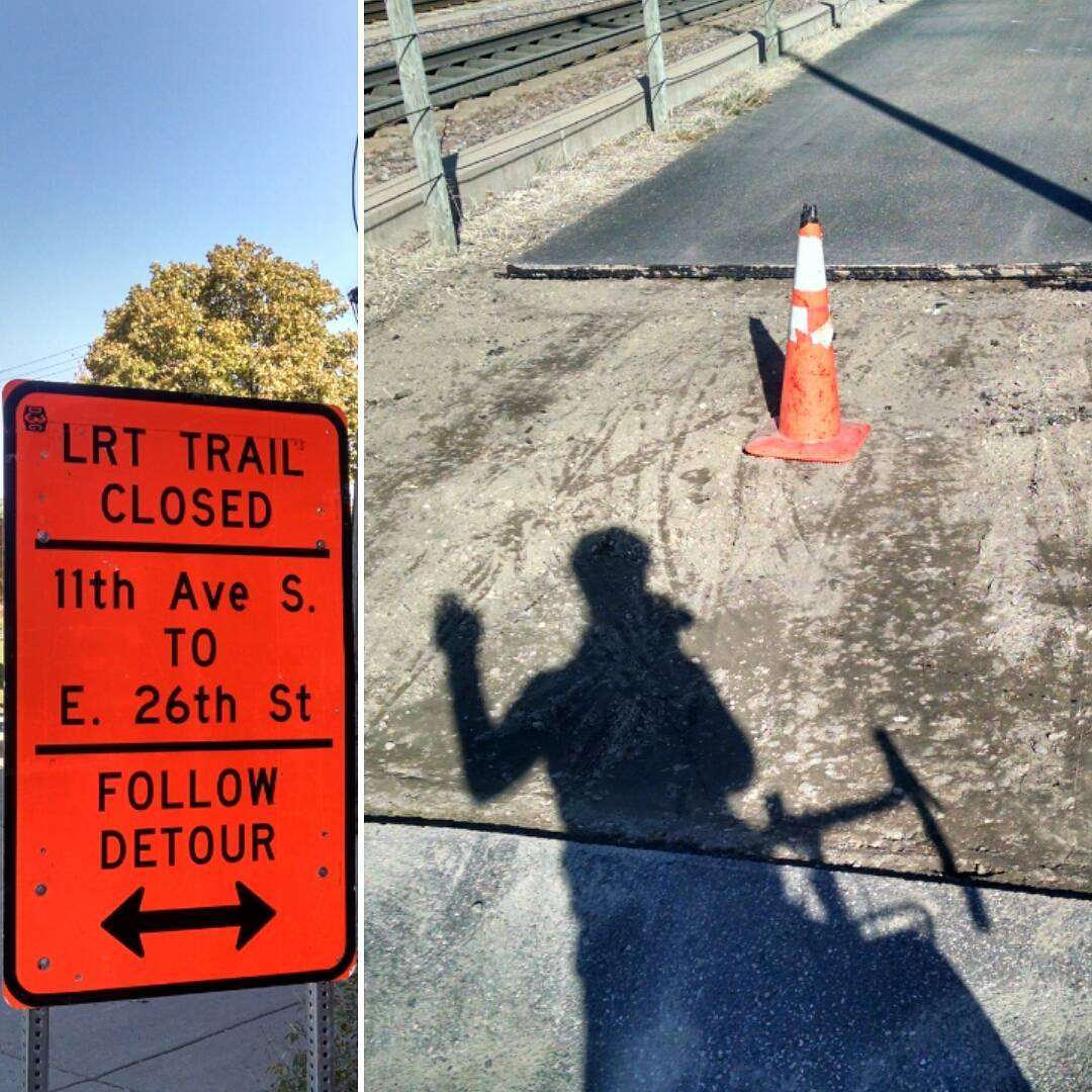 Detour, Construction Cone in Biking Areas
