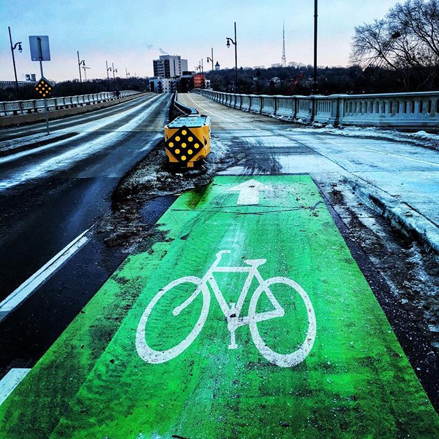 Protected Bikeway on Bridge