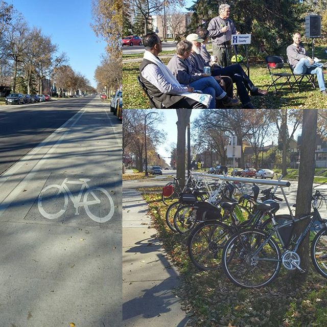 Collage of Bikes, Protected Bikeway and Meeting
