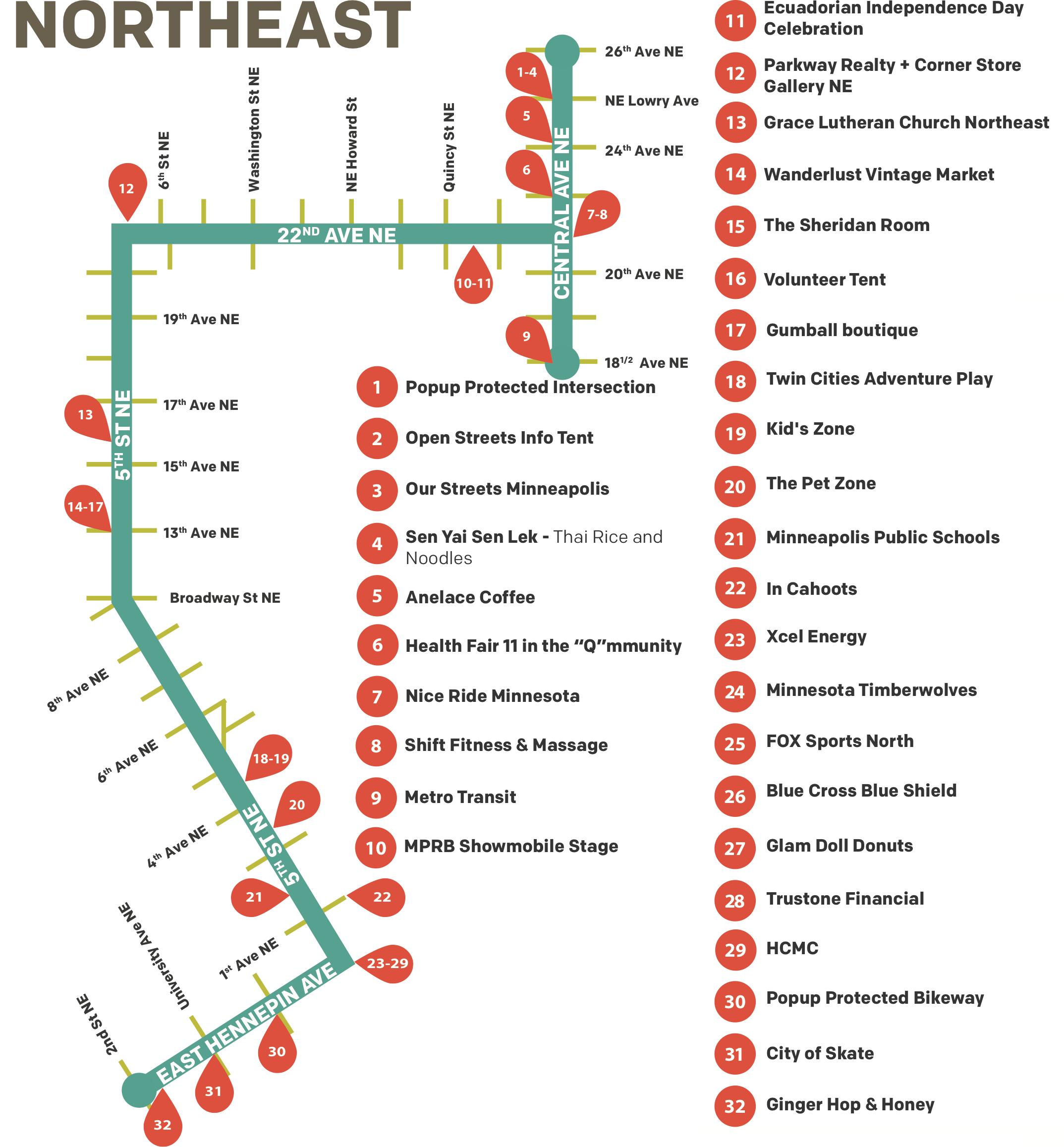 Open Streets NE Map