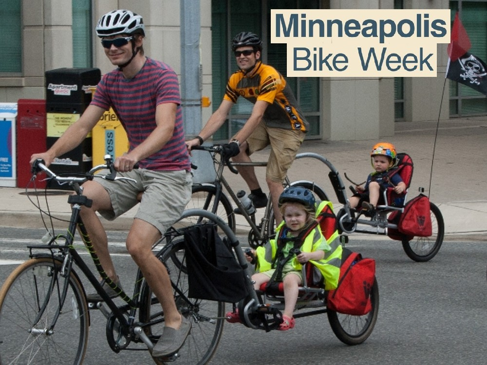 Mpls Bike Week: A city-wide celebration of all things bike with a focus on encouraging those who do not normally ride to give it a try. Get your school, business or organization involved in the celebrations, join the Bike Week Workgroup or sign up for a shift during bike week.