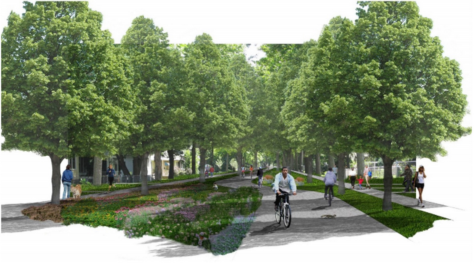North Minneapolis Greenway Rendering