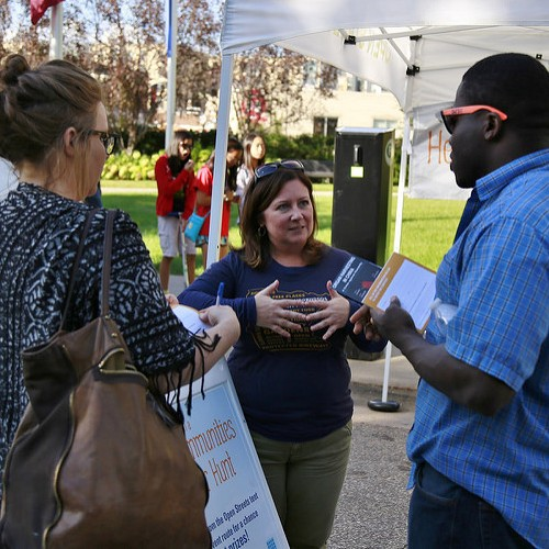 Volunteers Tabling at an Event