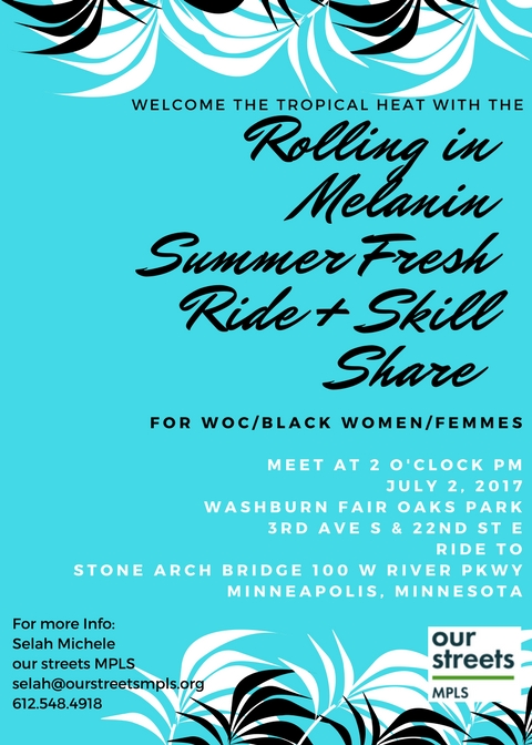 Rolling in Melanin Fresh Summer Ride + Skill Share