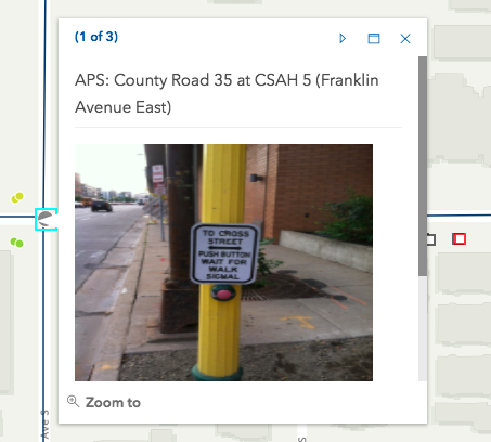 ADA (APS) barrier on Franklin 1