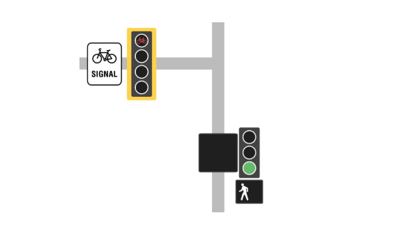 Washington Ave bike lane signals need to be changed