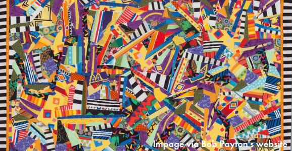 Bob Payton abstract art quilt