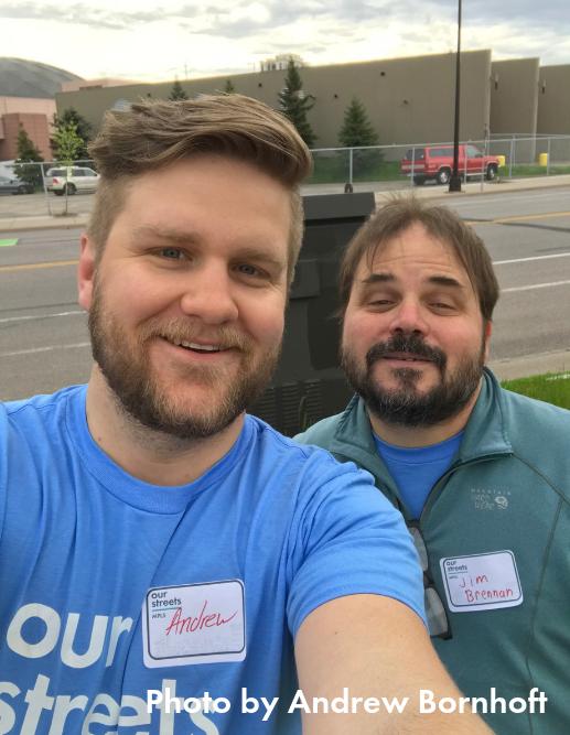 Selfie of Downtown Bikeways Volunteers