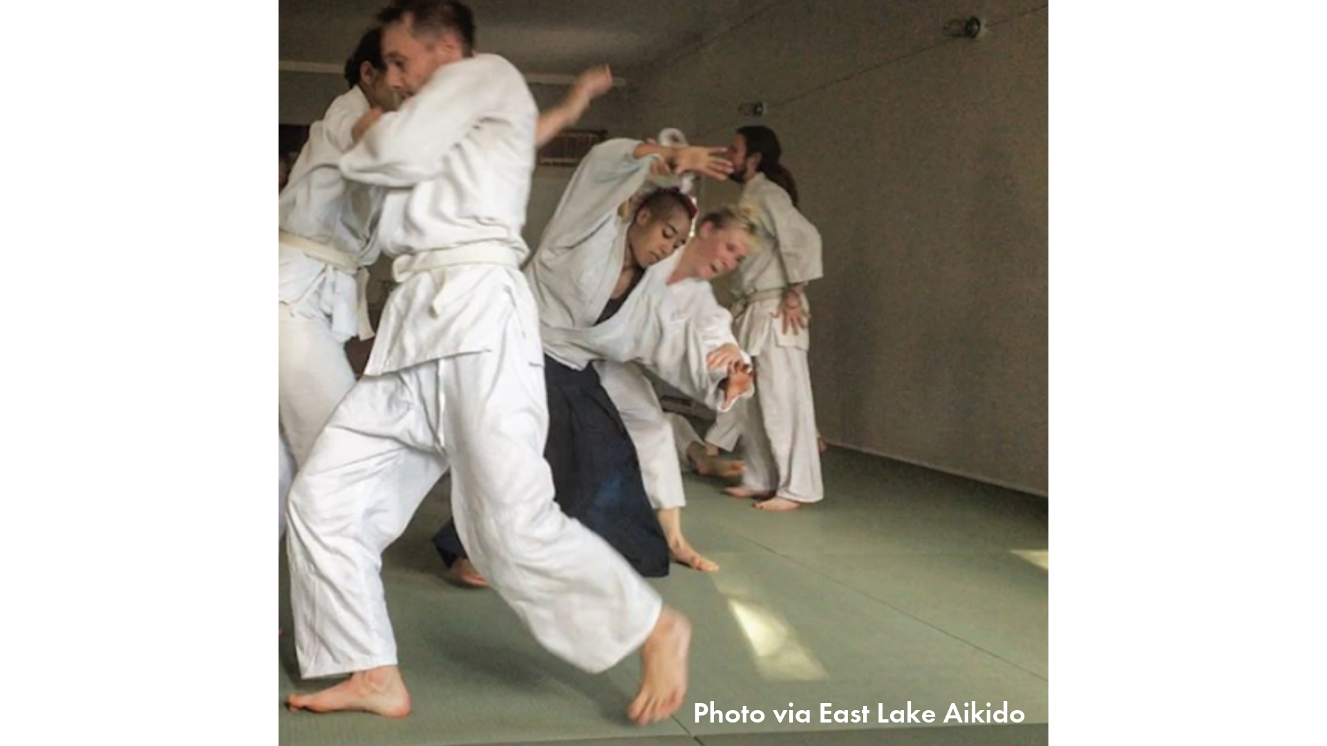 Folks practicing aikido