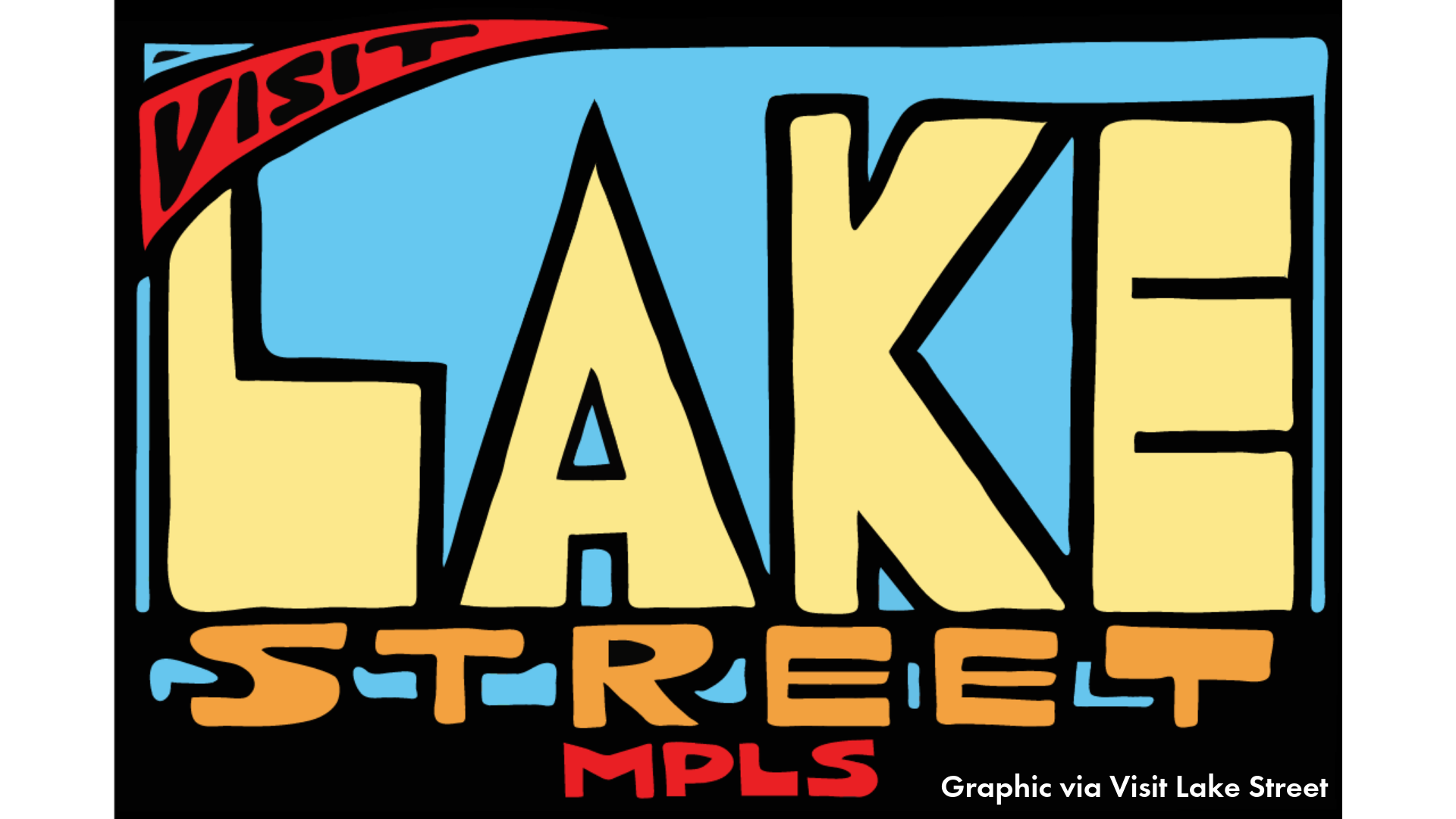 Colorful graphic by visit lake street mpls