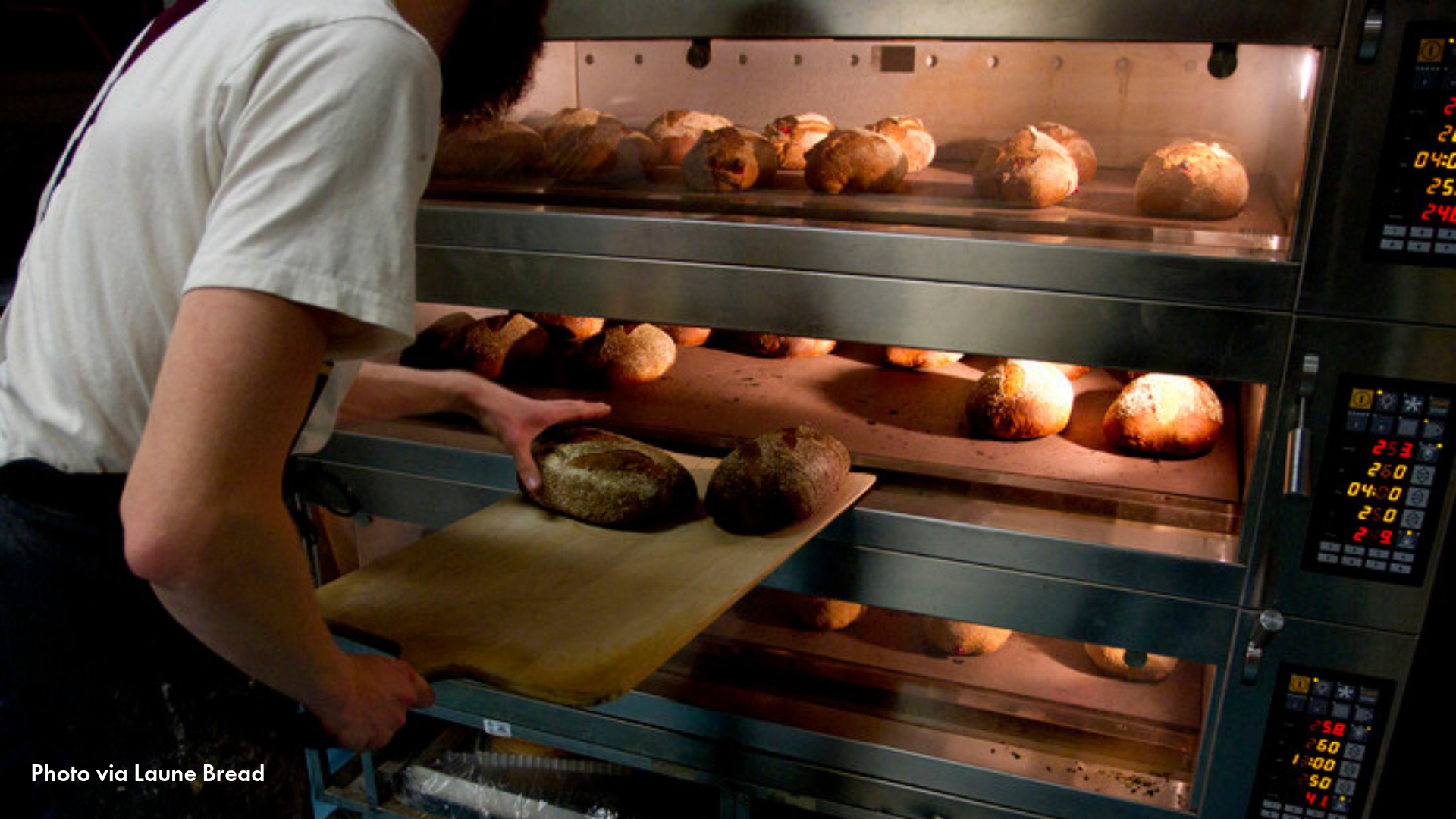 Person baking bread