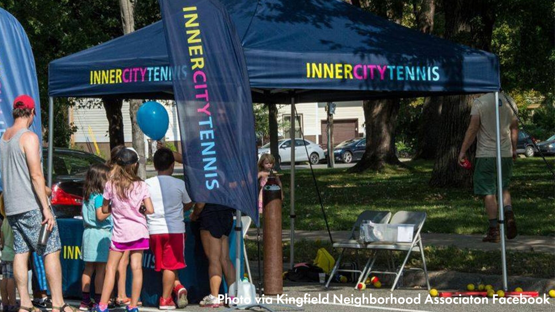 InnerCity Tennis Tent at Open Streets Nicollet